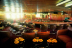 Luxurious Lounge Bar offering a variety of entertainment when cruising on the MS Ruby